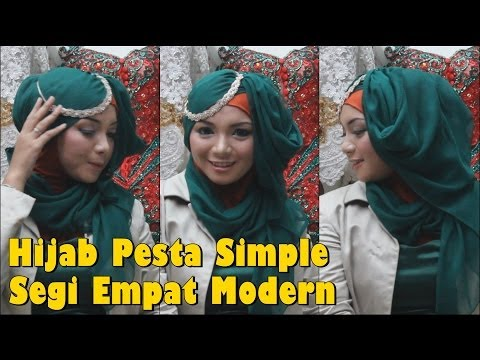 Hijab Pesta Simple Segi Empat Modern by Revi