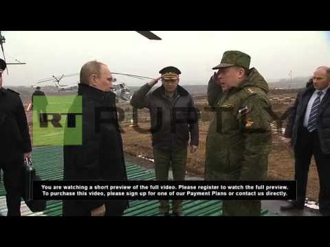 Russia: Putin observes military exercises in Leningrad Region