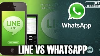 Line VS Whatsapp Comparativa Just Unboxing