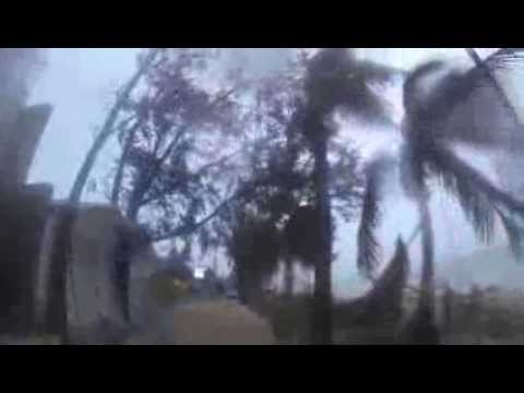 Typhoon Yolanda on Boracay Isle, Philippines