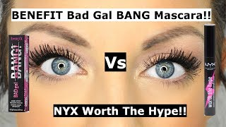 Benefit bad gal bang mascara Vs NYX worth the hype mascara | Is it a DUPE?