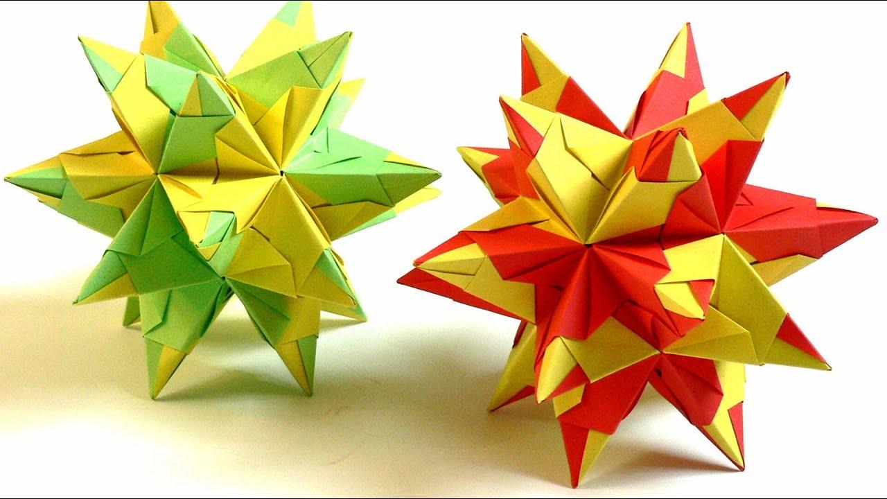 modulares origami bascetta stern falten bascetta star. Black Bedroom Furniture Sets. Home Design Ideas