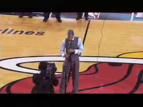 JON SAXX NATIONAL ANTHEM AT THE MIAMI HEAT GAME 2013