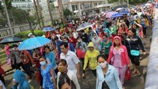 90,000 công nhân Sài Gòn đình công phản đối nhà nước