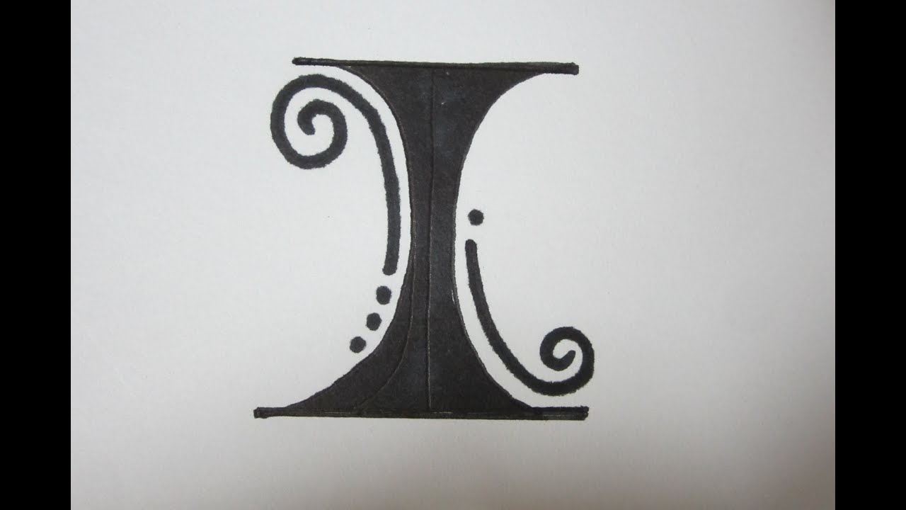 Fancy Letters - How To Draw Fancy Letters - The letter I - YouTube