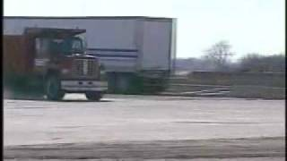 Dump Truck Hits Military Grade Barrier At 50 MPH