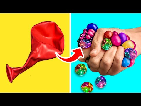 32 BALLOON LIFE HACKS TO HAVE FUN AND RELAX || Soft Relaxing Toys DIYs