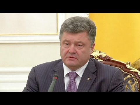 Ukrainian president announces plan for temporary ceasefire in crisis-ridden east