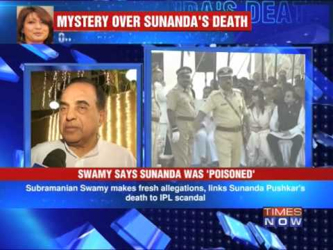 BJP Leader Subramanian Swamy links Sunanda's death to IPL