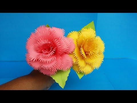 زهور جميلة من الورق