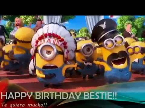 Minions wishing happy birthday  -  amazing video