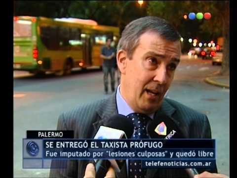 Ciclistas atropellados: se entreg el taxista - Telefe Noticias