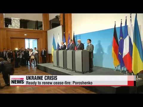 Ukraine's leader ready to renew cease-fire