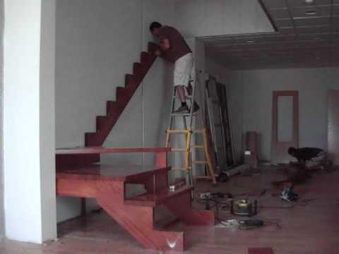 Escalones de madera minecraft namathis - Como hacer una escalera de madera recta ...