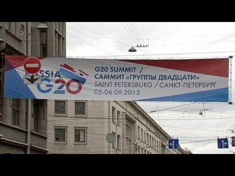 World leaders arrive in St Petersburg ahead of G20 summit.