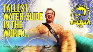WORLD'S TALLEST WATER SLIDE! Man City's Chappy Takes On