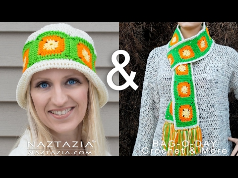 Learn How to Crochet Citrus Splash Hat - Granny Square Beanie - Collab with Bag O Day