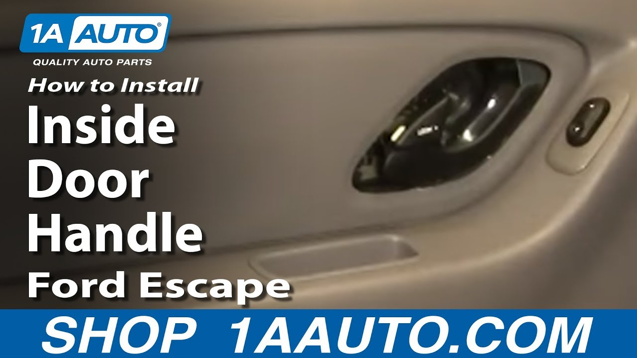 How to install replace rear inside door handle ford escape - 2013 ford escape interior door handle ...