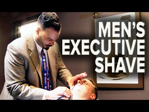 Men's Executive Straight Razor Shave | Featuring Master Barber Moustache Jim