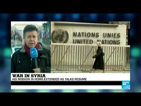 Syria: Aid mission in Homs extended as talks resume