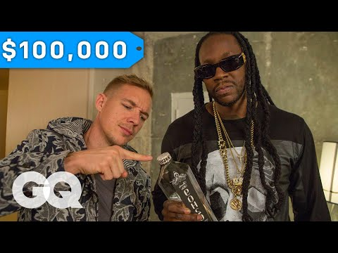 Diplo & 2 Chainz Try $100K Bottled Water   Most Expensivest Shit