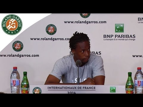 Press conference Gaël Monfils 2014 French Open R1