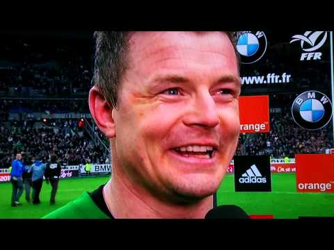 Brian O'Driscoll Interview After Ireland Beat France In 6 Nations 2014