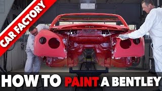 Bentley PAINT SHOP - HOW TO Paint a Luxury CAR - HOW IT'S MADE Assembly Line
