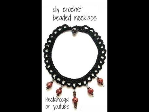 Copy of DIY - CROCHET A SIMPLE NECKLACE, CROCHET TUTORIAL. Crochet jewelry pattern.