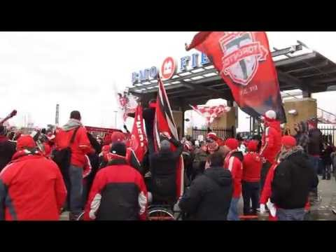 Toronto FC Fans Celebrating After Home Opener Victory 2014