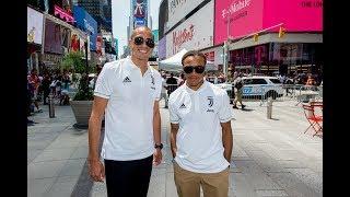 Juventus Invaders   Trezeguet & Davids tour New York