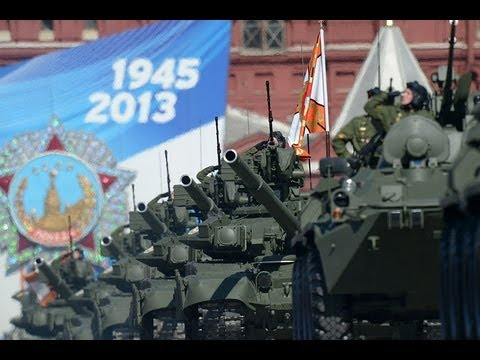 Victory Day Parade 2013 on Red Square in Moscow