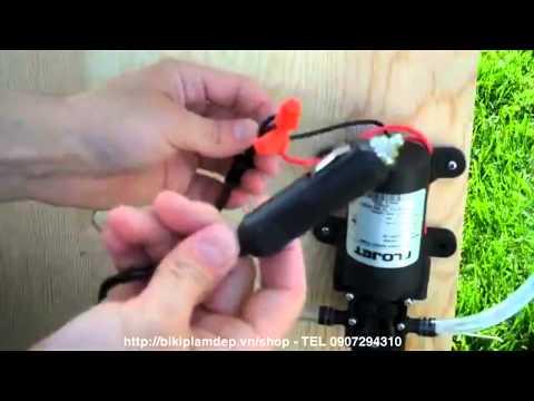 Cách tăng áp lực nước cho máy nước nóng dùng máy bơm nước áp lực 12V mini