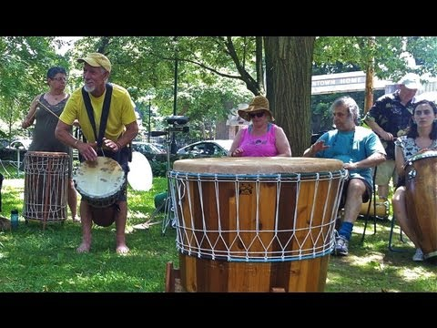 Community Drum Circle in Mount Airy