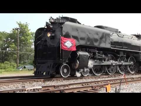 Pt.2 1944 Union Pacific Steam Locomotive No. 844 Departing Bald Knob Arkansas June 8, 2011