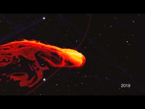 Giant gas cloud v supermassive black hole