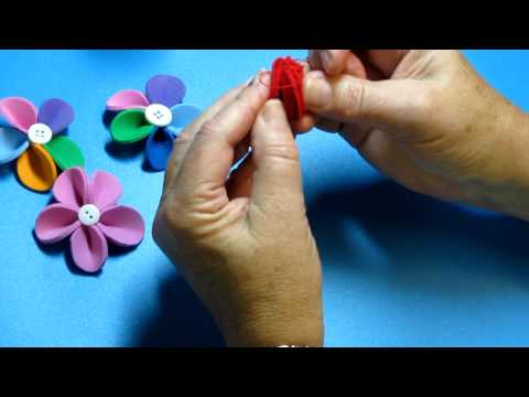 Felt OR Foam Flower Video Tutorial