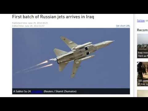 First Batch of Russian Jets Arrive In Iraq Updated ISIS Control Map Of Region