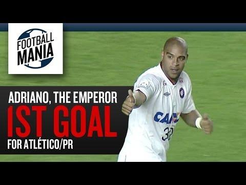 Adriano, The Emperor 1st Goal for Atlético/PR - Copa Libertadores 2014