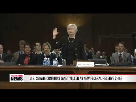 U.S. Senate confirms Janet Yellen as new Federal Reserve chief