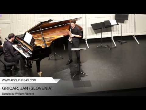 Dinant 2014 - GRICAR, Jan (Sonate by William Albright)