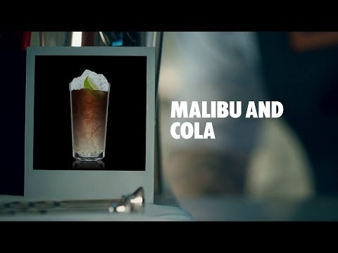 MALIBU AND COLA DRINK RECIPE - HOW TO MIX