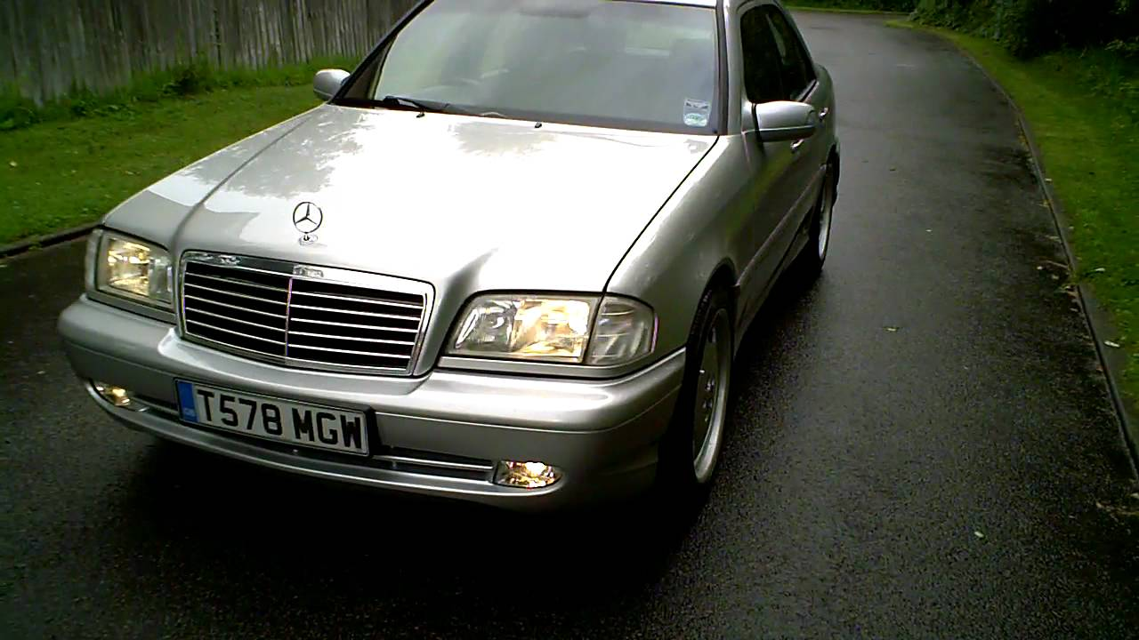 1999 t mercedes c240 sport saloon auto with c43 amg kit youtube. Black Bedroom Furniture Sets. Home Design Ideas
