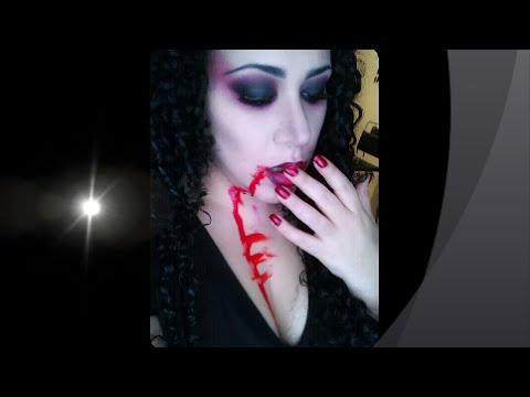 Vampiresa super facil maquillaje para Halloween!!!