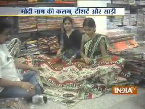 NaMo saree, t-shirts, pens grip Banaras markets