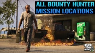 GTA 5 All Bounty Hunter Mission Locations In Detail