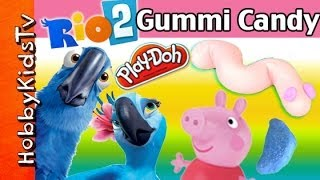 PLAY-DOH Gummi Candy! Peppa Pig Drives RIO Birds From
