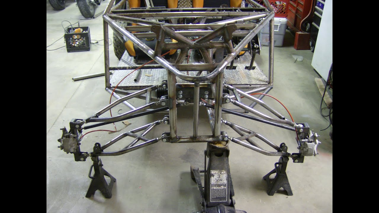 LONG TRAVEL DUNE BUGGY BUILD SAND RAIL chassis with MOTORCYCLE ENGINE - YouTube