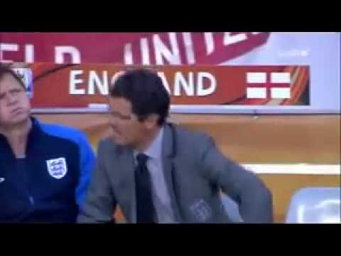 Funny reaction from the England coach Fabio Capello فابيو كابيلو