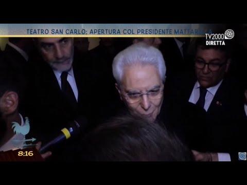 Teatro San Carlo: apertura col Presidente Mattarella